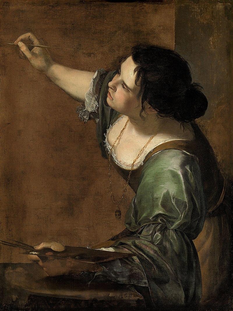 """Caption: """"Autorretrato"""" A. Gentileschi"""
